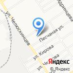 Детский сад №164 на карте Барнаула