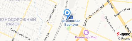 Парикмахерская на пл. Победы на карте Барнаула