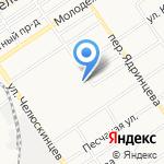 Барнаульская сетевая компания на карте Барнаула