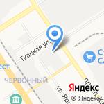 Юником на карте Барнаула