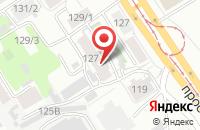 Схема проезда до компании Габора в Барнауле
