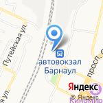 Алтай-Пригород на карте Барнаула