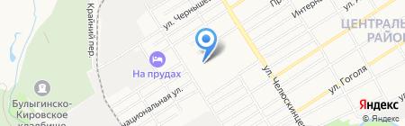 Прудской на карте Барнаула