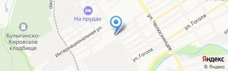 Автостоянка в Малом Прудском переулке на карте Барнаула