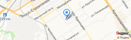 Территориальный отдел надзорной деятельности №1 по г. Барнаулу на карте Барнаула