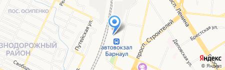 Платный туалет на карте Барнаула