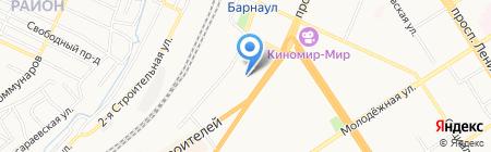 У вокзала на карте Барнаула