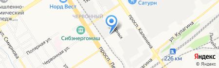 АКМЭ на карте Барнаула
