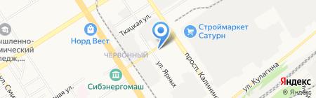 Беби-мир на карте Барнаула