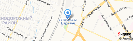 Автостоянка Автовокзал на карте Барнаула
