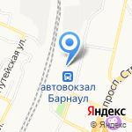 На дорожку на карте Барнаула