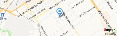 Elegante на карте Барнаула