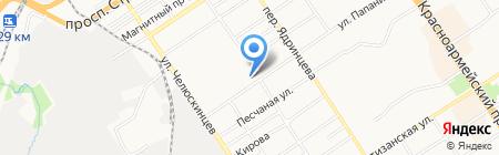 Производственно-технический центр федеральной противопожарной службы по Алтайскому краю на карте Барнаула