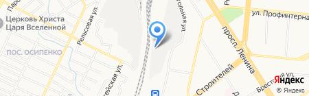 Музей истории локомотивного депо на карте Барнаула