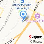 Центр гигиены и эпидемиологии по железнодорожному транспорту на карте Барнаула