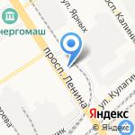 Ганс на карте Барнаула
