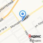 Дом на Молодежной на карте Барнаула