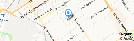 Тектоника на карте Барнаула