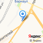 Бьютелль на карте Барнаула