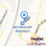 Автомобильные перевозчики Алтая на карте Барнаула