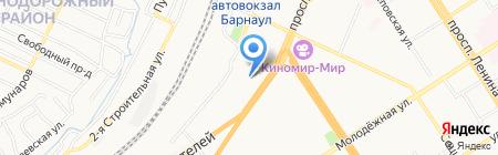 Лига Артплюс на карте Барнаула