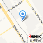 Актив СК на карте Барнаула