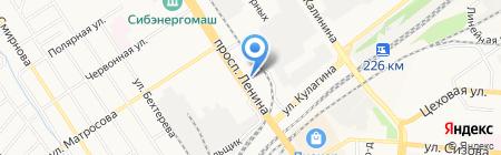 LUCKY на карте Барнаула