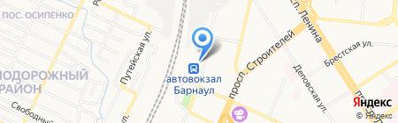 На перроне на карте Барнаула