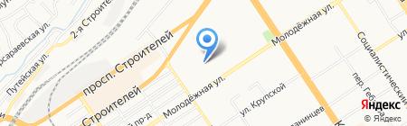 Молодёжная 68а на карте Барнаула