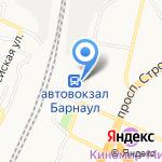 Бон Вояж на карте Барнаула