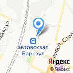 Кафе на карте Барнаула