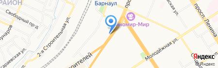 Продуктовый супермаркет на карте Барнаула