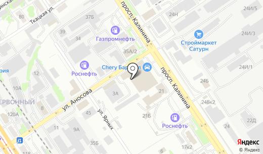 АЛЮСИСТЕМ. Схема проезда в Барнауле