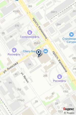 ТЭТ-РС на карте Барнаула