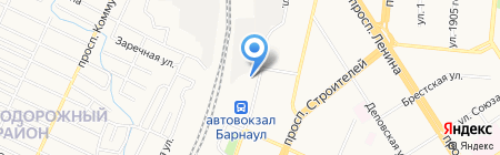 Аида на карте Барнаула