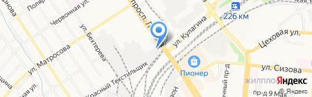 Мостоотряд-96 на карте Барнаула