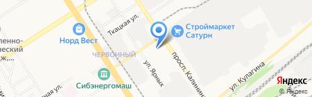 Зеленые теплицы на карте Барнаула