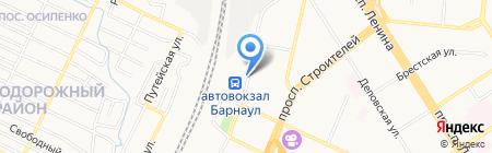 Автостоянка на площади Победы на карте Барнаула
