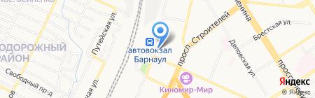 Пригородный на карте Барнаула