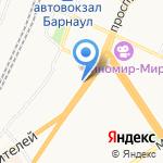 М-город на карте Барнаула