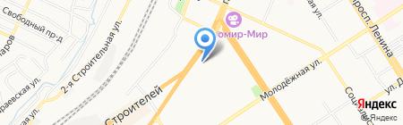 Ампер на карте Барнаула