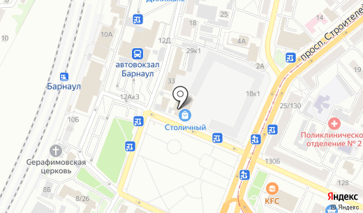 МИР. Схема проезда в Барнауле