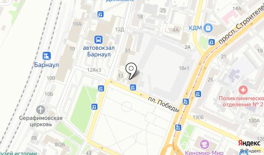 Винтаж. Схема проезда в Барнауле