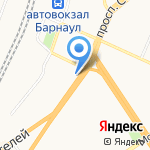Транскод на карте Барнаула