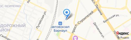Автокор на карте Барнаула
