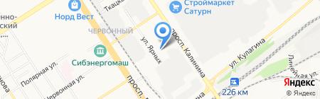 СТБ на карте Барнаула