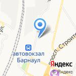 Интервал на карте Барнаула