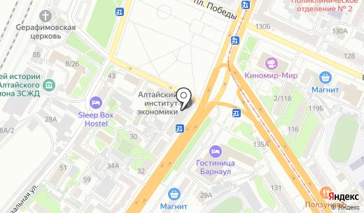 Агентство недвижимости. Схема проезда в Барнауле