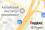 Схема проезда до компании Алтел в Барнауле