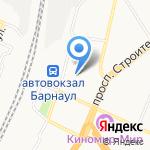 Привокзальный на карте Барнаула